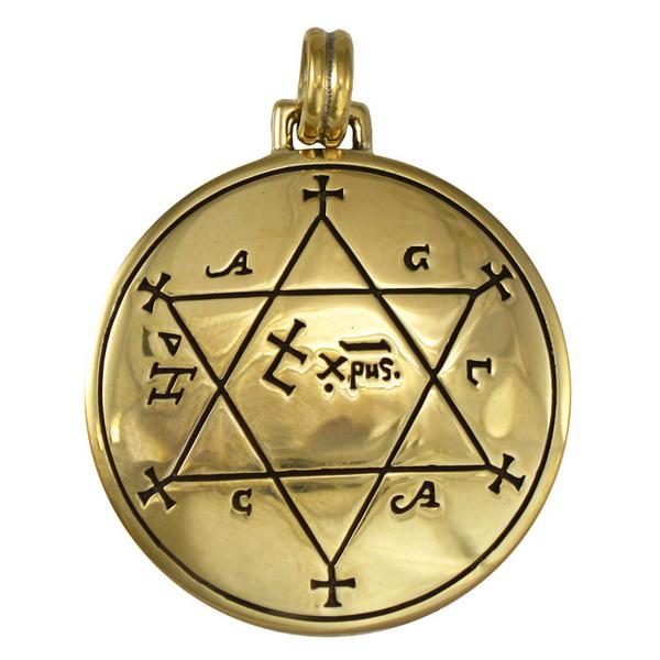 Bronze Talisman to Make Garments Auspicious Pentacle Pendant