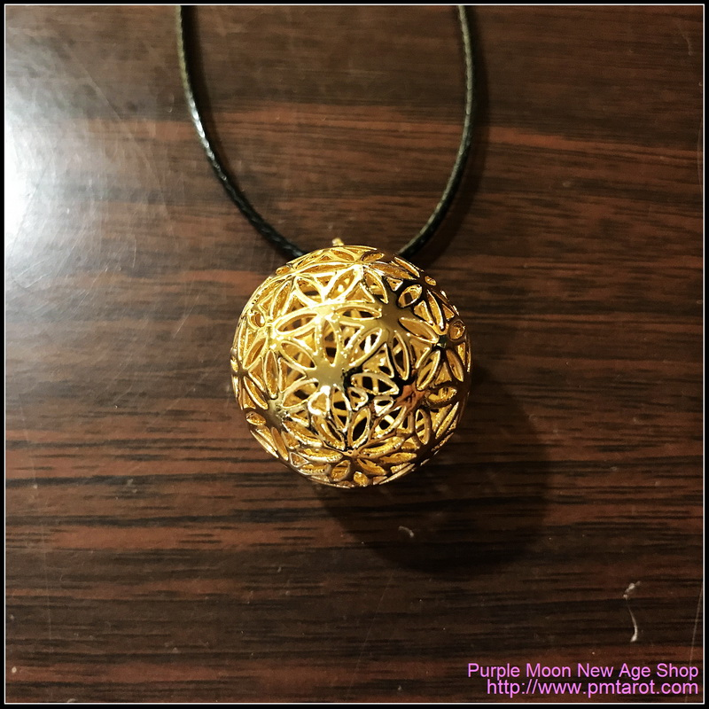 Flowers of Life Ball Gold Pendant