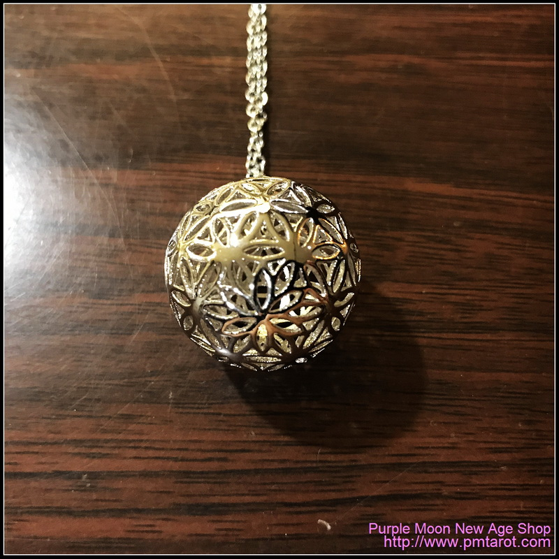 Flowers of Life Ball Silver Pendant