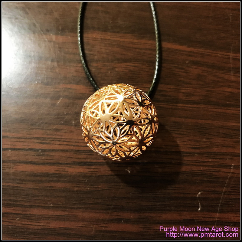 Flowers of Life Ball Rose Gold Pendant
