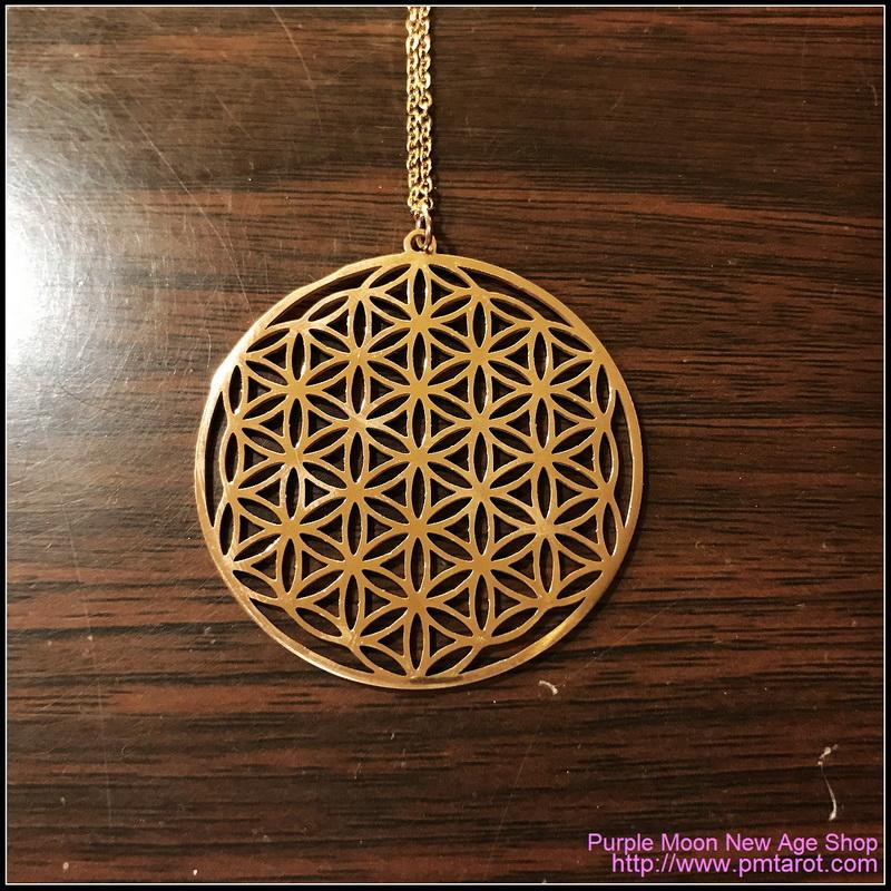 Flower of Life Rose Gold Pendant