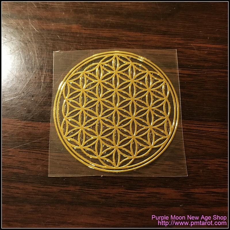 Flower of Life Gold sticker