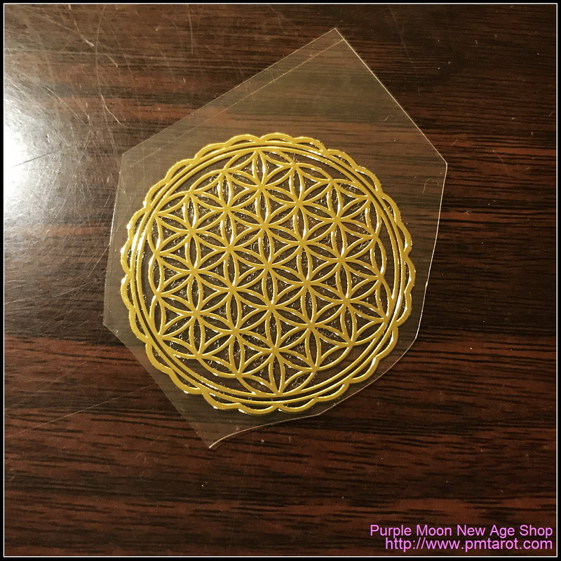 Flower of Life Gold sticker