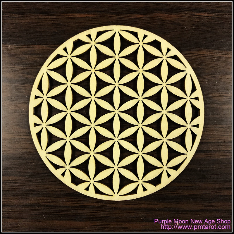 Flower of Life Wooden Plate