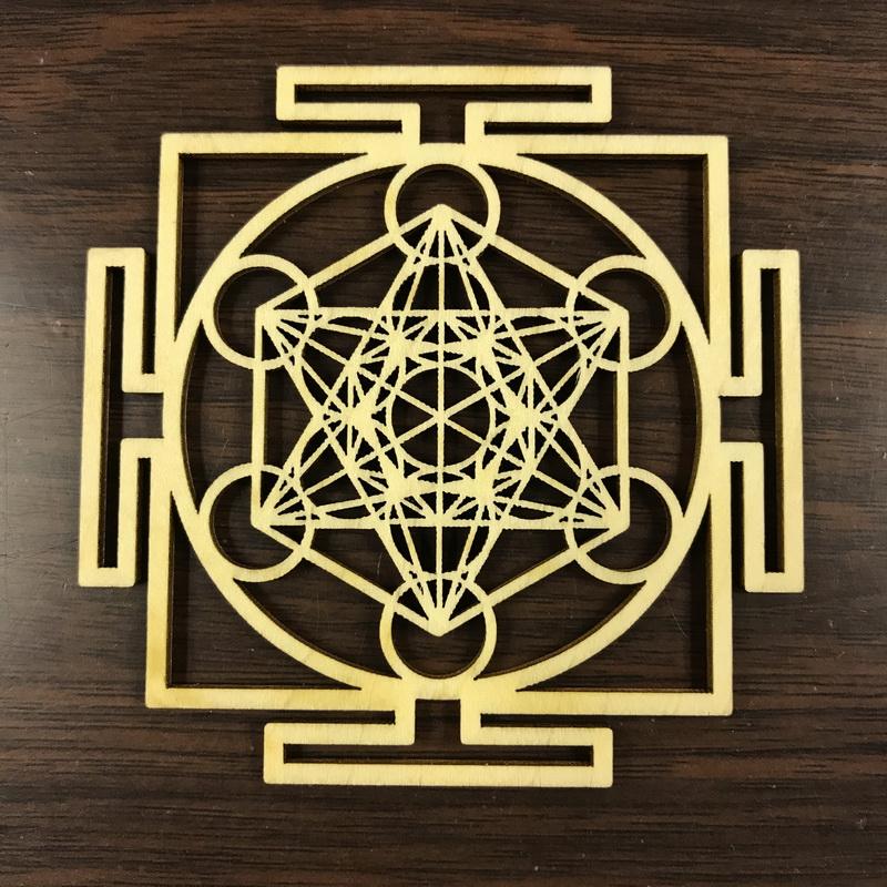 Archangel Metatron's Cube Mandala Wooden Plate