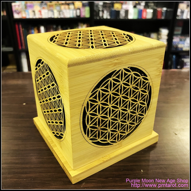 Bamboo Made Meditative Incense Box with Flower of Life