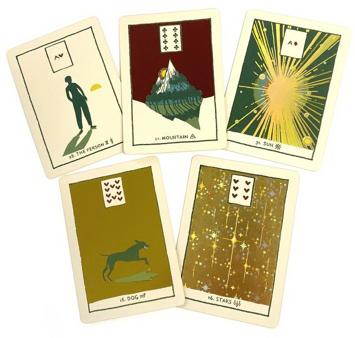 Green Glyphs Lenormand Additional Foil Cards Limited