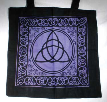 Triquetra With Celtic Knotwork Tote Bag