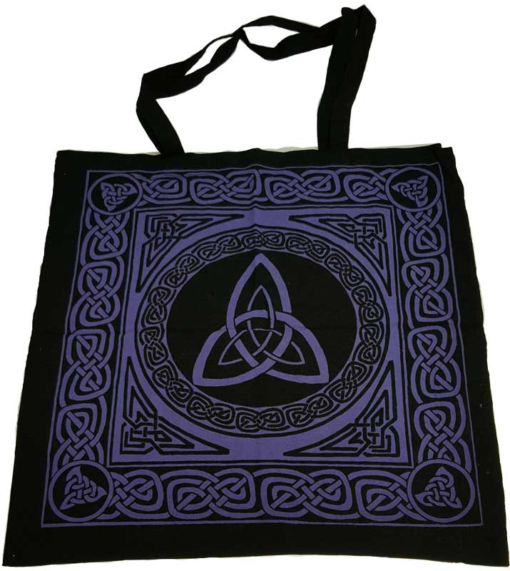 Triquetra Purple/Black Tote Bag