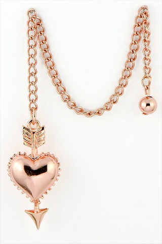 Rose Gold Heart Pendulum