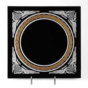 Celtic Scrying Mirror - Black Acrylic Mirror