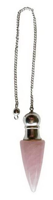 Rose Quartz Chambered Pendulum