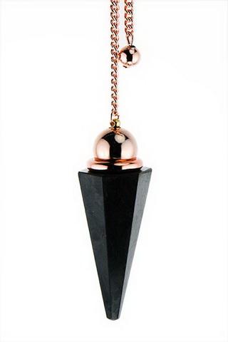 Shungite Rose Gold w/Chamber Pendulum