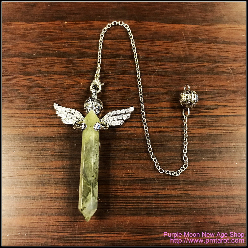 Cupid Angel Wings Labradorite Pendulum