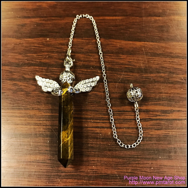 Cupid Angel Wings Brown Tiger Eye Pendulum