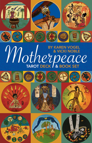 Mini Motherpeace Round Tarot Deck & Book Set