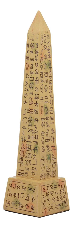 Egyptian Hieroglyphs Obelisk Statue