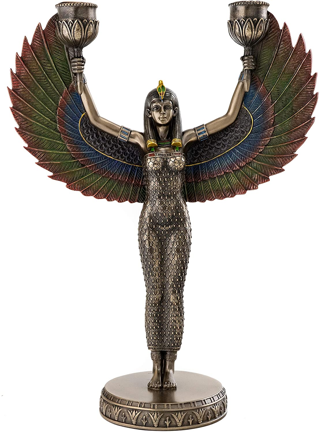 Egyptian Isis Candelabra Statue