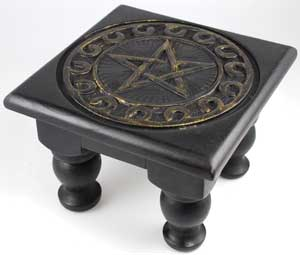 Square Pentagram Altar Table Small