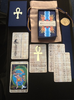 Rosetta Tarot - Papyrus Gold Edition with hieroglyph guide