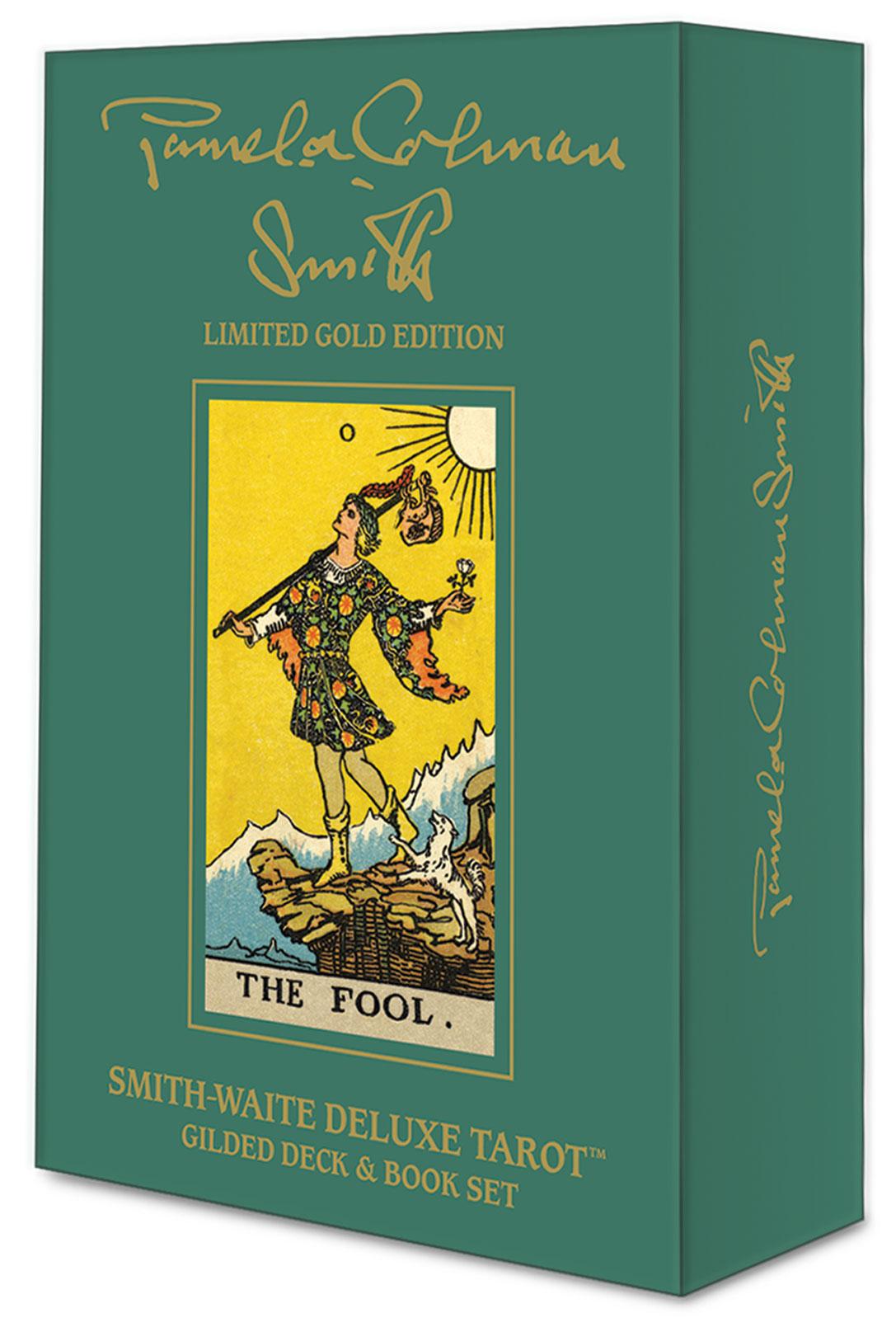 Smith-Waite Deluxe Tarot: Gilded Deck & Book Set