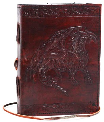 Dragon Leather Blank Book
