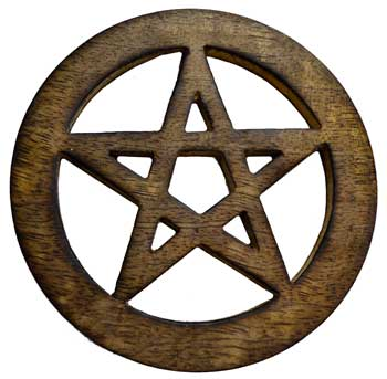 Wooden Pentagram Altar Tile 4