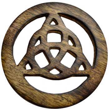 Wooden Triquetra Altar Tile 4