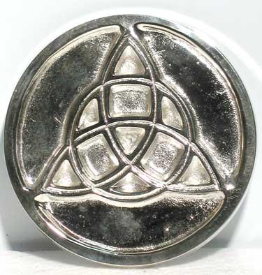 Metal Triquetra altar tile 3