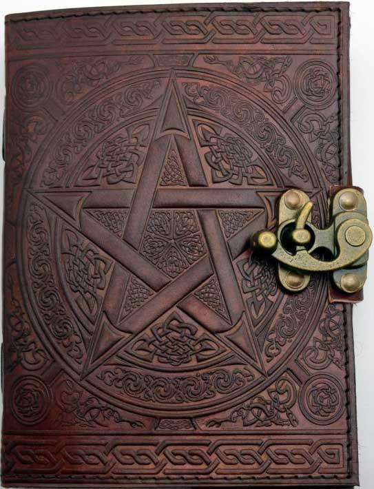 Brown Pentagram Leather w/ Latch