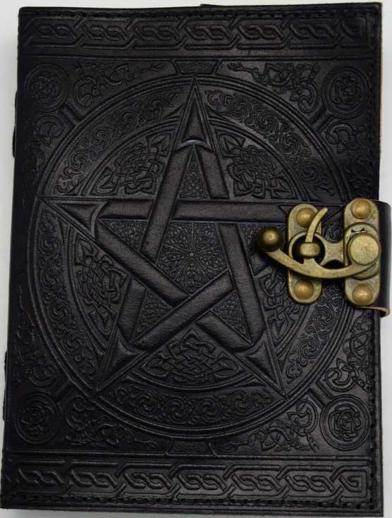 Black Pentagram Leather w/ Latch