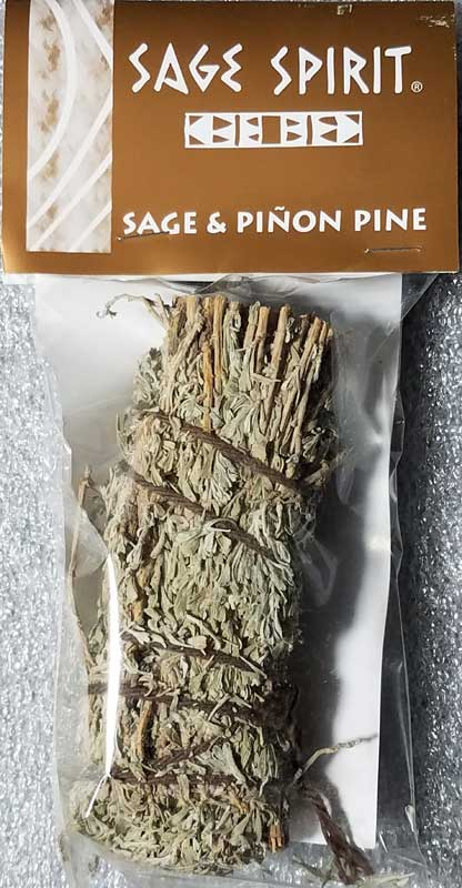 Sage & Pinon Pine smudge stick 5