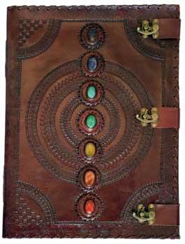 7 Stone leather blank book w/ 3 latch