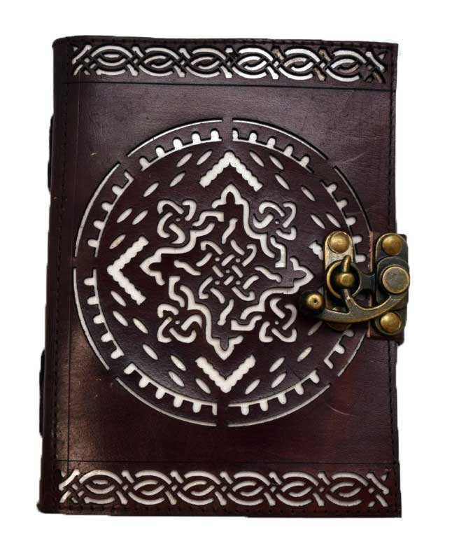 Celtic Knot Leather Blank Book w/ Latch